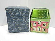 Partylite Retired Spring Village 3-Wick Jar Tin - New & Free Shipping