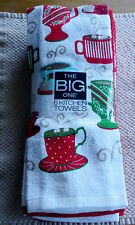 "THE BIG ONE, 6 KITCHEN TOWELS (HOT DRINKS 6 PACK). NEW IN PACKAGE. 16"" X 28""."