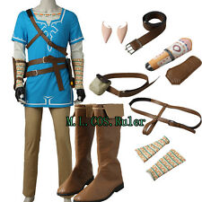 Hot The Legend of Zelda Breath of the Wild Link Tunic Cosplay Costume Any Size