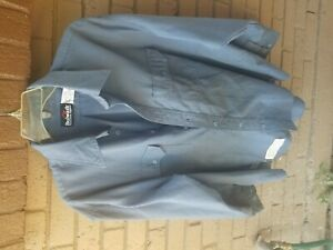 bulwark flame ressistant blue shirt xl reg