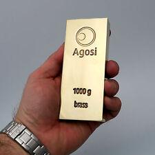 1 Kg 1000 Grammes Agosi Lingots En Laiton Installation Investment Métaux