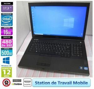 Portable 17p DELL Precision M6700 Corei7-3th Gen 16Go RAM SSD480GB 500GB HDMI