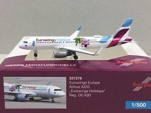 Herpa 1:400 Eurowings Holidays AIRBUS A320 OE-IQD 531276