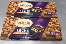 Valor Milk Chocolate 37% Cacoa Mediterranean Almonds 25% 2 X 250g Gluten Free