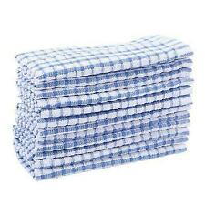 12pcs Kitchen Towels Bulk 100 Cotton Dish-Cloths Scrubbing Dishcloths Sets Blue