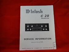 McIntosh C 28 Preamplifier Service Manual