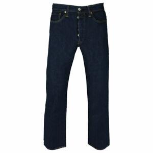 Genuine LEVIS Mens 501 ORIGINAL Regular Straight leg Denim jeans