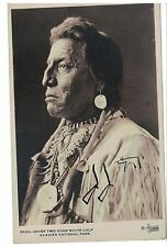 1929  Signed Postcard Chief Two Guns White Calf Buffalo Nickel Model