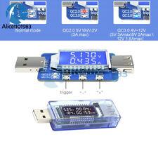 QC2.0 3.0 USB DISPLAY LCD ELETTRONICO truffa Corrente Tensione Tester Trigger