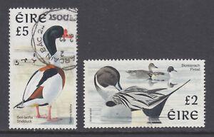 Ireland Sc 1081, 1111 used. 1997 high value definives depict birds, F-VF