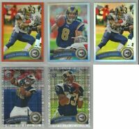 St Louis Rams 5 card 2011 Topps Chrome REFRACTORS & XFRACTORS lot-all different