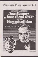 JAMES BOND DIAMONDS ARE FOREVER GERMAN PHANTOPIA 4 PAGE FILM PROGRAM