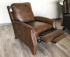 New Barcalounger Melrose Recliner Chair Bristol Chocolate Leather Gel 2111-86