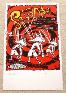 Sebadoh 1995 ARTIST SIGNED SPANISH MUSIC POSTER / PRINT Les Seifer