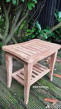 Top Quality TEAK WOOD natural stool for bathroom shower qubicle  50x46x35cm