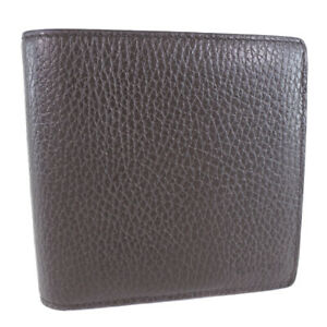 GUCCI 150413 wallet Brown/Brown leather mens