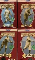 "🔥(4) Starting Lineup Cooperstown Collection 12"" Babe Ruth,Cobb,Wagner,Young"
