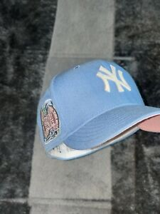 EXCLUSIVE Fitted Hat Cotton Candy Yankees NY Subway Series Side Patch Pink