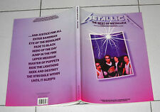 Songbook METALLICA The Best of Metallica TABLATURE guitar Tab Spartiti
