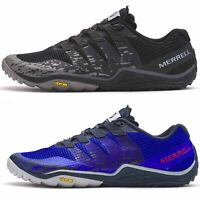 Merrell Trail Glove 5 Running Athletic Barefoot Trainers in Black & Surf Blue