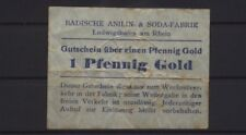 [20336] - GOLD-NOTGELD LUDWIGSHAFEN, Badische Anilin- & Sodafabrik (BASF), 1 Pfe