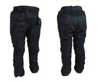 Pantaloni da moto tutte le stagioni 3 strati SHIELD - nero con cuciture bianche