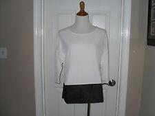 New Chico's Lenka Blocked Top Blouse Shirt Black/Antique White 3 (16-18) XL NWT