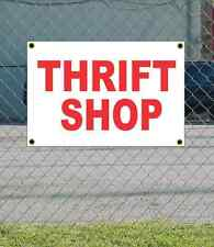 2x3 THRIFT SHOP Red & White Banner Sign NEW Discount Size & Price FREE SHIP