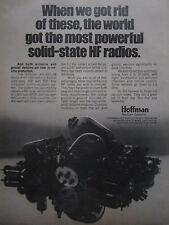 7/1975 HOFFMAN NAVCOM SYSTEMS HF SSB RADIO AN/ARC-98 ORIGINAL AD