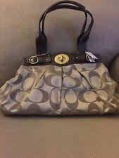 NWT Coach 13906 Signature Sateen Garnet Handbag Shoulder Bag