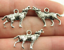 2pcs Howling Wolf Charm Antique Silver Tone Game Of Thrones Vampire Diaries