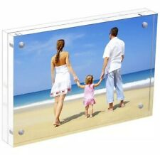 TWING Premium Acrylic 5x7 Picture frames - Magnet Photo Frame -Double Side Thick