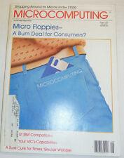 Microcomputing Magazine Micro Floppies & IBM Compatibles August 1983 111314R