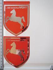 Aufkleber Sticker 2x Metallfolie VGH Versicherungsgruppe Hannover Decal (3352)