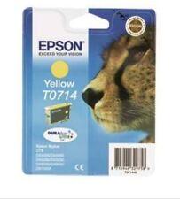 Genuine Unused Original Epson T0714 Yellow ink cartridge