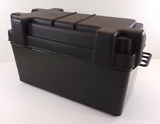 Large Battery Box & Strap Black Caravan Camper Motorhome 110 AMP  VW  BS62