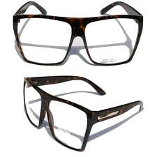 Big Oversized Tortoise Super Nerdy Square Sun Glasses Trapezoid Gold