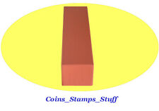 Color Coded Coin Storage Box / 100 Cardboard 2x2 Flips For Quarter - Orange Box