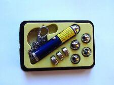 Laserpointer Schlüsselanhänger Silber Inkl. 4 Aufsätze