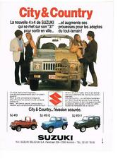 PUBLICITE ADVERTISING   1982   SUZUKI   CITY & COUNTRY  les 4x4