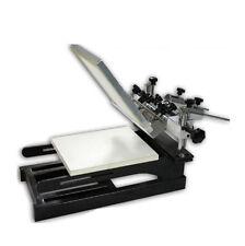 New Printer Screen Printing Press Machine 1-1 Color Station Micro Adjustable