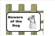 Jack Russell Dog Beware of the Dog  Design Metal Door Sign