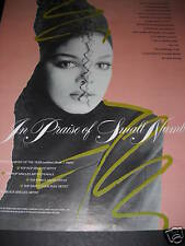 JANET JACKSON In Praise Of Small Numbers 1986 PROMO AD