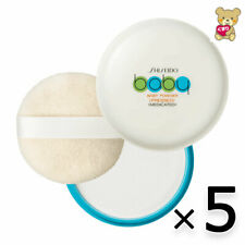 ☀[5pack set]Shiseido Medicated Facial / Body Baby Powder (Pressed) Soft Puff
