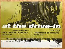At The Drive In Poster Original Grand Royal 2000 Poster Very Rare! Emo rock