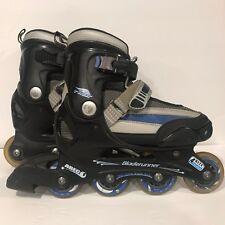Bladerunner Twist Inline Skates Abec 1 Black and Blue 72 mm Adjustable Size 4-7