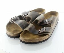 15-26 $135 Men's Sz 12 M Birkenstock Arizona Oiled Leather Soft Footbed Sandal
