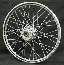 "Chrome 40 Spoke 21"" x 2.15"" Front Wheel for Harley XL Dyna 2000-Ltr Narrow Glide"