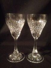 "Tudor Crystal Fairfax Cut Sherry Glasses, Signed, 5 1/4"" Tall"