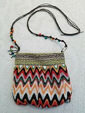 Junior's Girl's Chevron NWOT crossbody handbag purse orange brown green bag